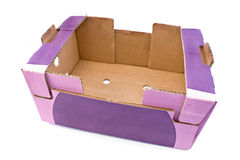 Purple cardboard box Stock Image