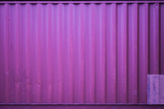 Purple Cargo container Royalty Free Stock Photography