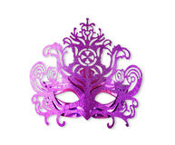 Purple carnival mask isolated on white Stock Photography