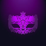 Purple Carnival Mask royalty free stock photos
