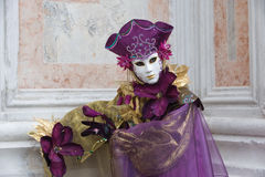 Purple carnival outfit Royalty Free Stock Image