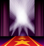 Purple carpet spots stars Stock Image