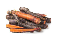 Purple carrots Royalty Free Stock Photography