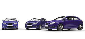 Purple Cars Royalty Free Stock Photo