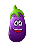 Purple cartoon eggplant vegetable Royalty Free Stock Image
