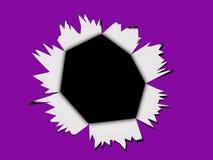 Purple cartoon style punch through background Royalty Free Stock Photos