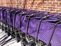 Purple Carts Royalty Free Stock Photography