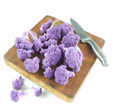 Purple cauliflower Royalty Free Stock Photos