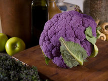 Purple cauliflower Stock Photography