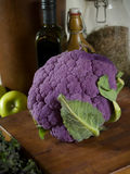 Purple cauliflower Stock Photos