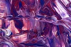 Purple cave. Abstract purple cave in magic land Stock Photo
