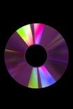Purple CD. Purple compact disc on black background Stock Photos