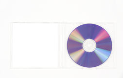 Purple CD in clear case Royalty Free Stock Image