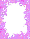 Purple celebration border Royalty Free Stock Image