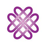 Purple celtic sign royalty free illustration