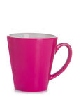 Purple ceramic cup Royalty Free Stock Image