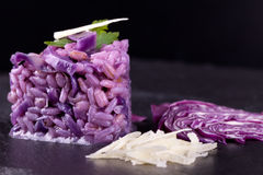 Purple Cereal Mix With Red Cabbage Stock Photography