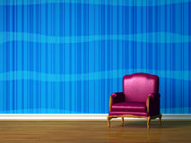 Purple chair Royalty Free Stock Images