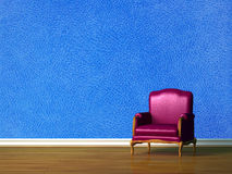 Purple chair Stock Image