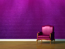 Purple chair Stock Photography