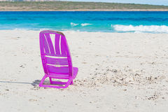 Purple chair Stock Images