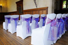Purple chair cover Royalty Free Stock Photography