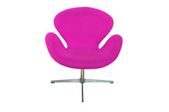 Purple chair isolated Royalty Free Stock Photography