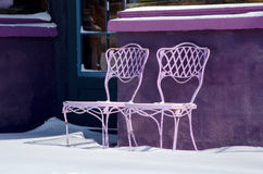 Purple chairs Royalty Free Stock Photography