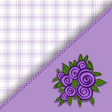 Purple checkered background Stock Images