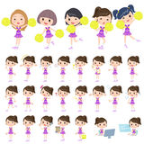 Purple Cheerleader Royalty Free Stock Image