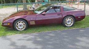Purple Chevy 1993 Corvette Arkivfoton