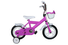 purple children's bicycle Stock Photography