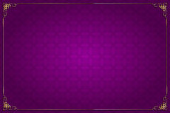 Purple chinese background and gold decoration Royalty Free Stock Image