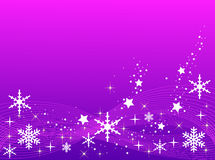 Purple Christmas Background Stock Photo