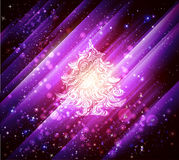 Purple christmas background Royalty Free Stock Photography