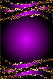 Purple Christmas background. Luxury purple and gold Christmas background Royalty Free Stock Photo