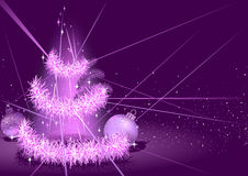 Purple Christmas Background Royalty Free Stock Photos