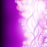 Purple Christmas background with decorations Royalty Free Stock Image