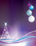 Purple christmas background illustration Stock Photos