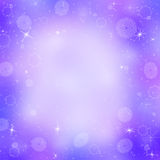 Purple christmas background with snowflakes Stock Image