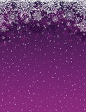 Purple christmas background with snowflakes and stars, vector Royalty Free Stock Photography