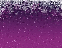 Purple christmas background with snowflakes and stars, vector Royalty Free Stock Photos