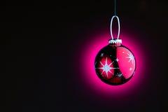 Purple Christmas ball Stock Image