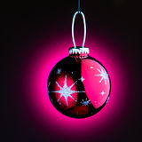Purple Christmas ball Royalty Free Stock Images