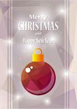 Purple christmas ball Royalty Free Stock Photo