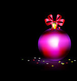 Purple Christmas ball Royalty Free Stock Image