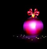 Purple Christmas ball Royalty Free Stock Image