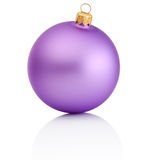 Purple christmas ball Isolated on white background Stock Photos