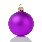 Purple christmas ball isolated on white Royalty Free Stock Image