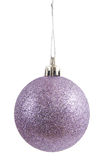 Purple christmas ball Royalty Free Stock Images